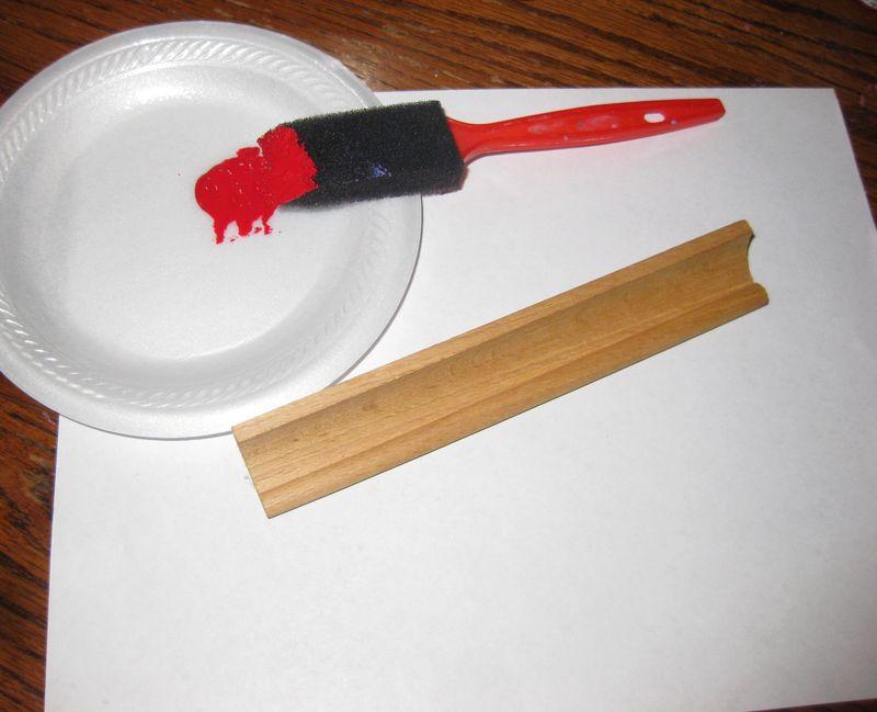 Kitchen scrabble set paint it red