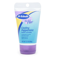 Favorite Peppermint products Dr Scholl's Coolling Peppermint foot lotion
