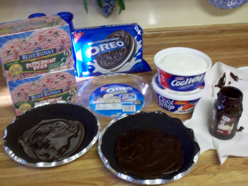 Peppermint pie step 1
