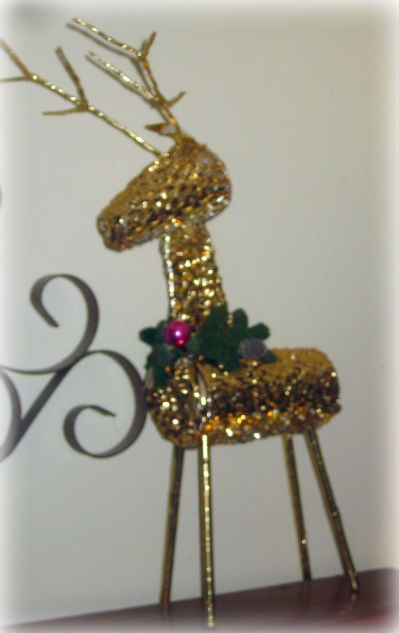 Christmas reindeer up close