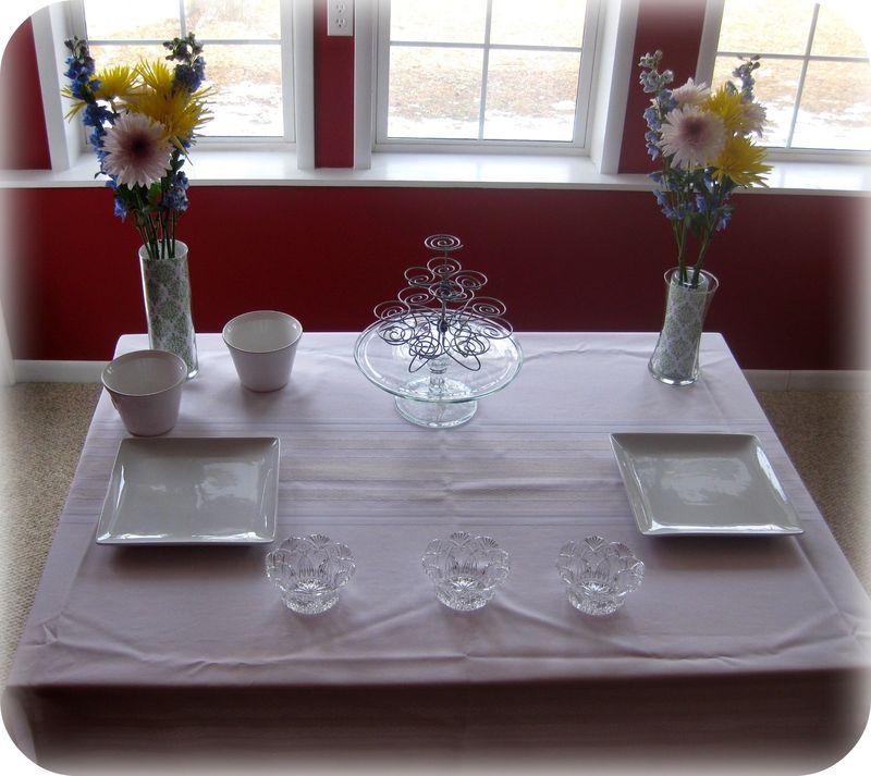 Dessert table blank canvas