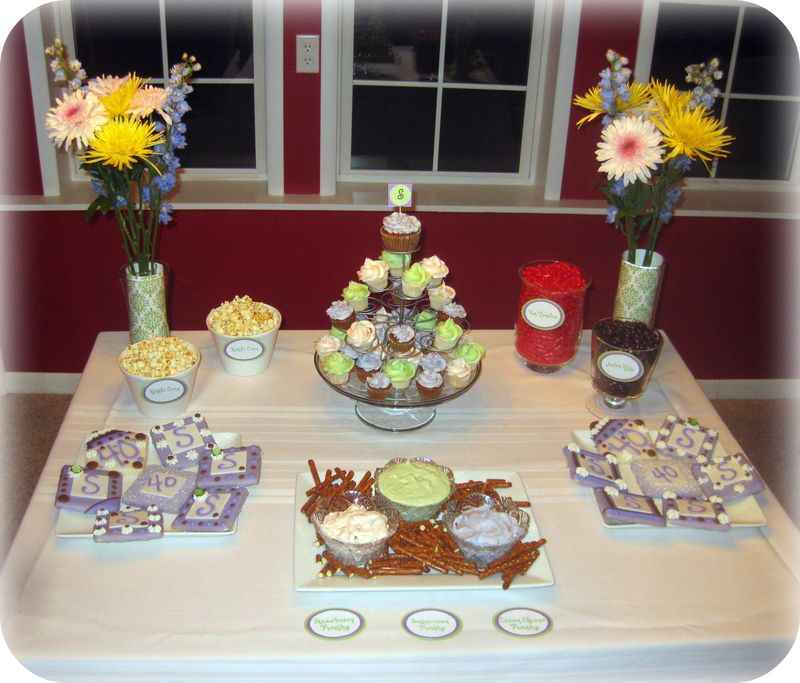 Dessert table 40th birthday party
