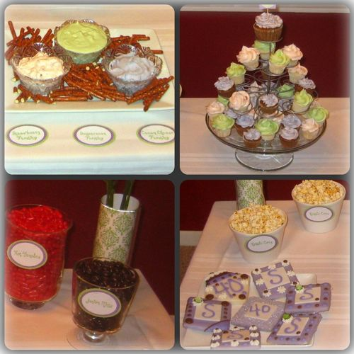 Dessert table the elements