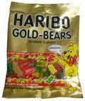 Gold Haribo gummi bears