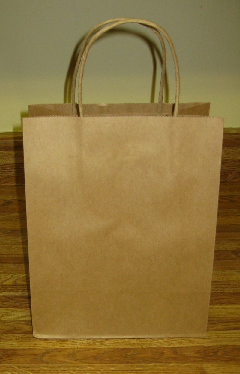 Dressing up a plain brown gift sack 2
