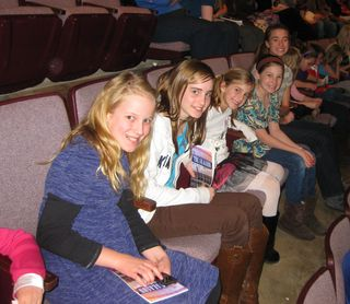 Valentines surprise with friends at musical