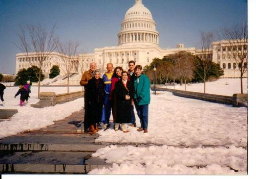 Spring Break in DC outside the Capitol