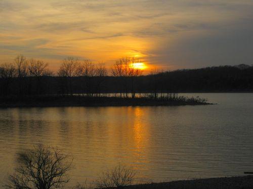 Camping sunset