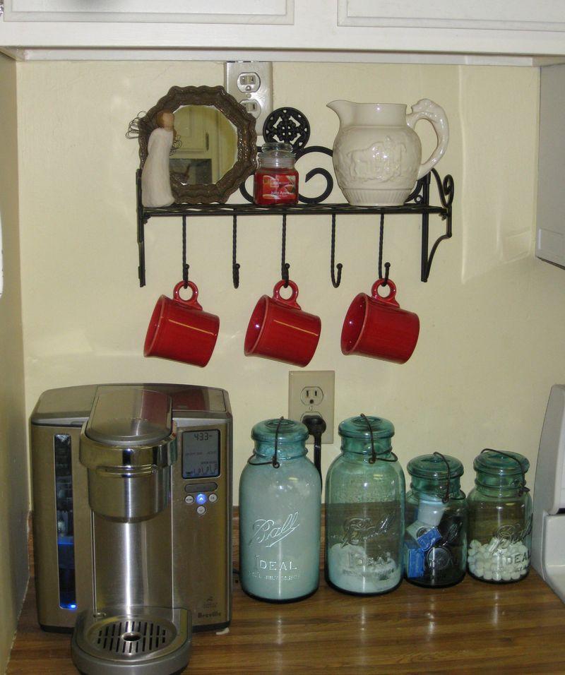 Kitchen shelf before