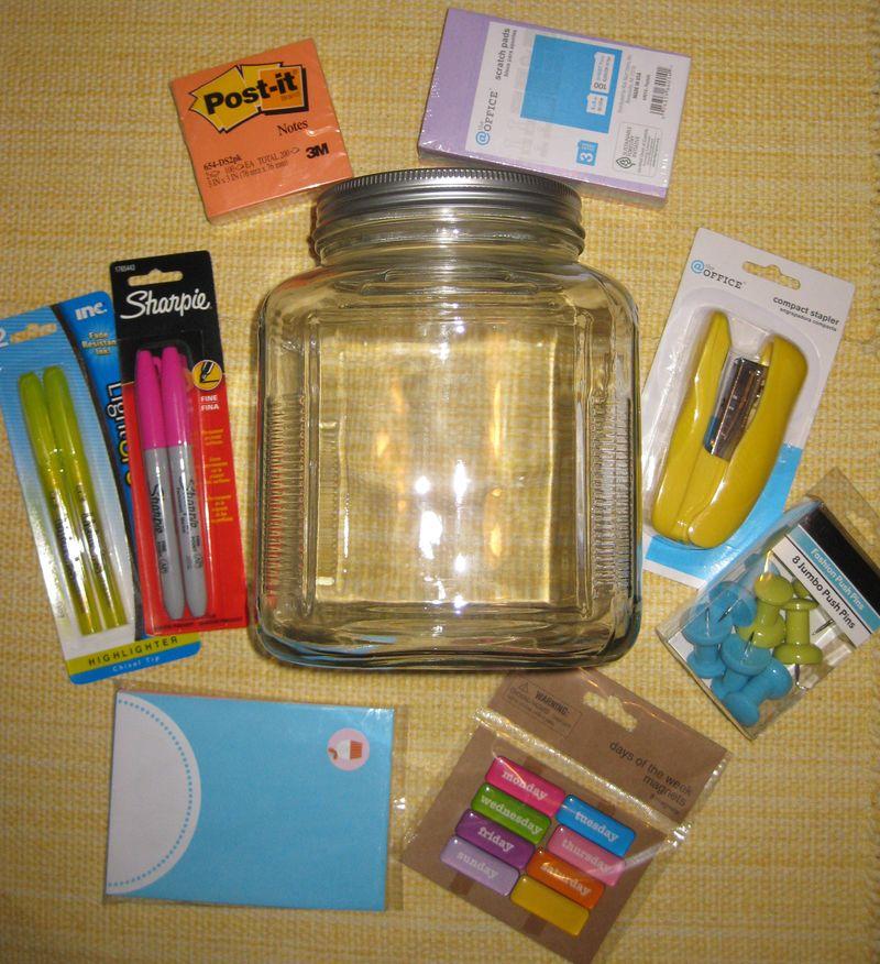 Happy jar of goodies contents