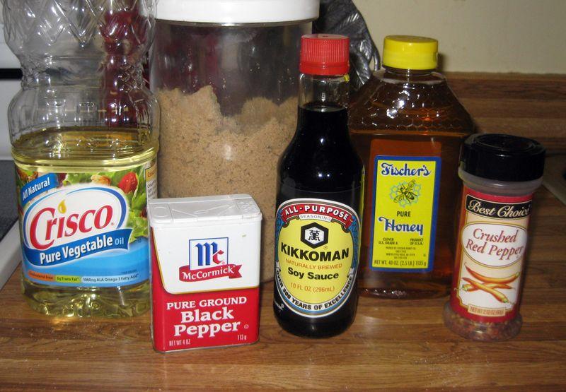 Honey kabob ingredients