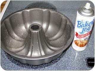 Carrot cake recipe spray the pan