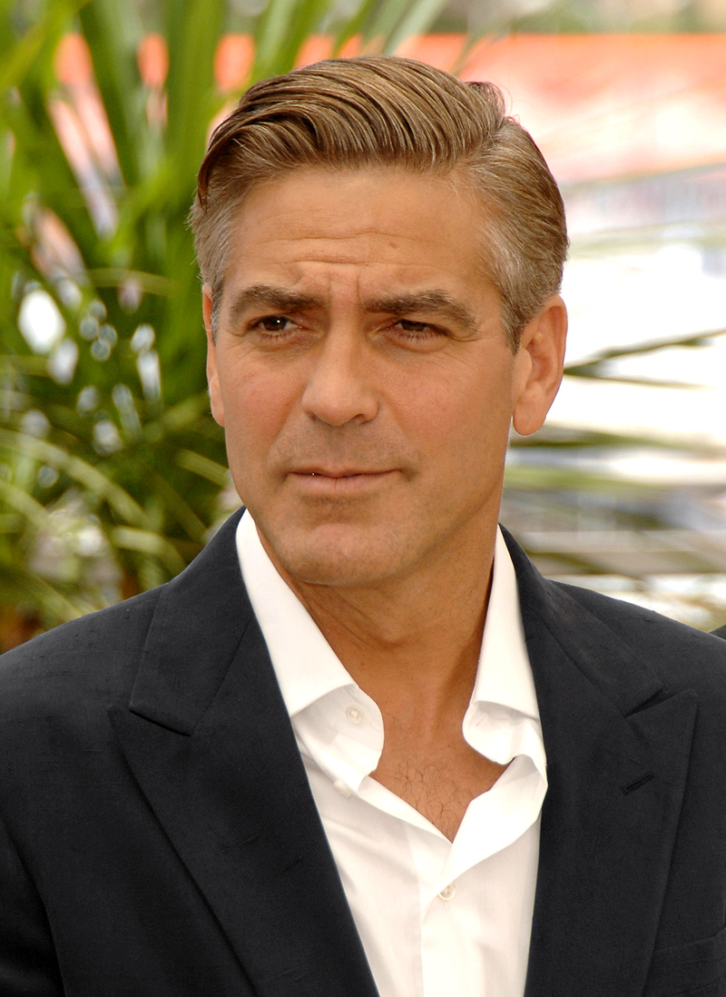 George Clooney smooth face