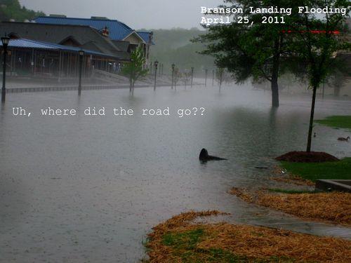 Flooding pictures Branson Landing 2