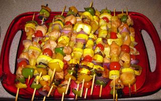 Honey kabobs grilled