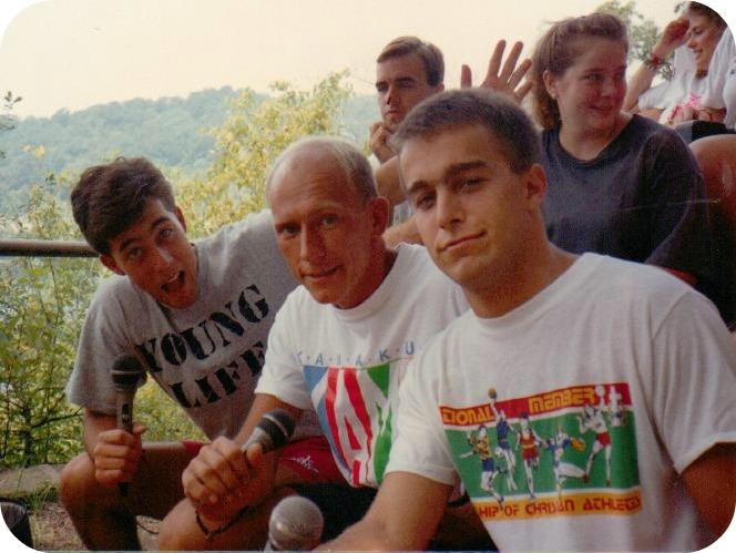 Big brothers at summer camp