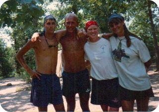 Big brothers going shirtless at camp