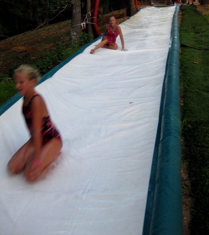 Down down the Slip n Slide