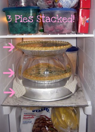 Spinach Quiche flash freezing storage