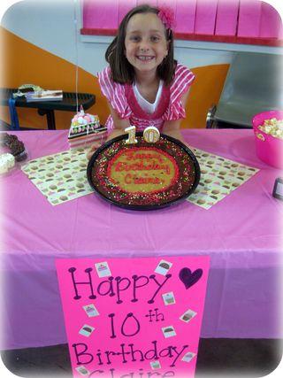 Chocolate party birthday girl