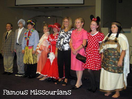 Missouri History Banquet class