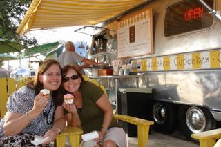 Seaside cupcakes airstream trailer
