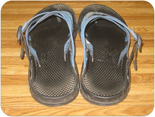 c3e86b5ba221 How to clean Chaco and Teva sandals (and BEFORE and AFTER pics ...
