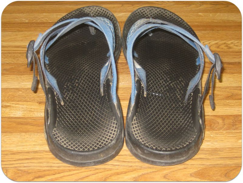 How to clean Chaco sandals before pic rear