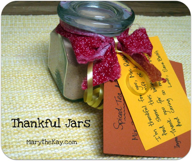 Thankful jars gifts to teachers