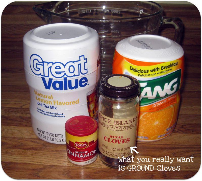 Thankful jars spiced tea mix ingredients