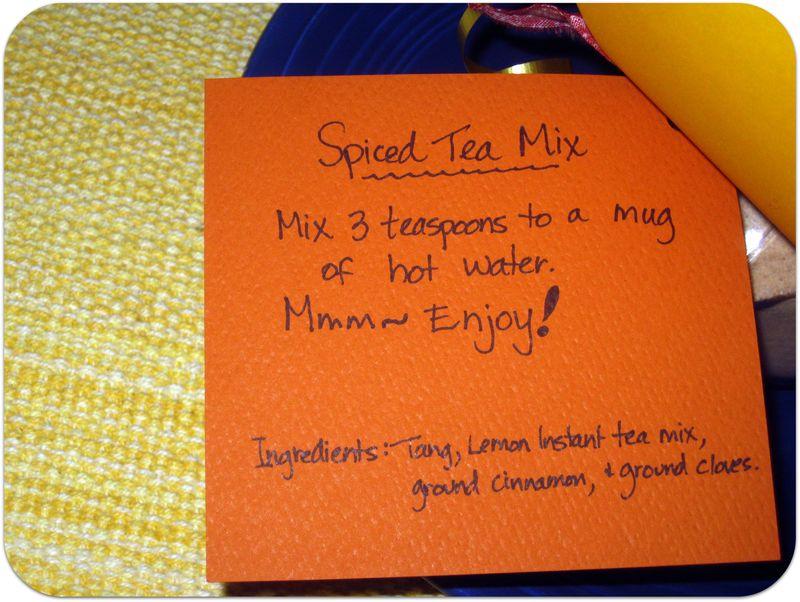 Thankful jars spiced tea mix directions