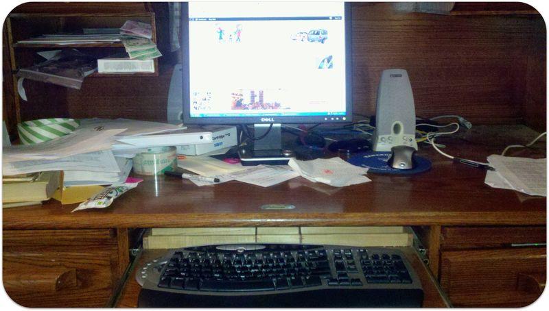 Messy desk picture 2