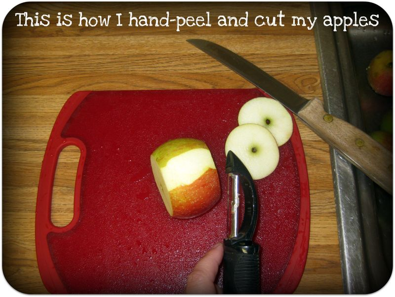 Apple pie how to hand peel and cut the apples
