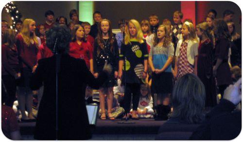 Christmas choir ensemble