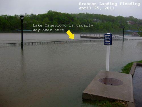 Flooding pictures Branson Landing