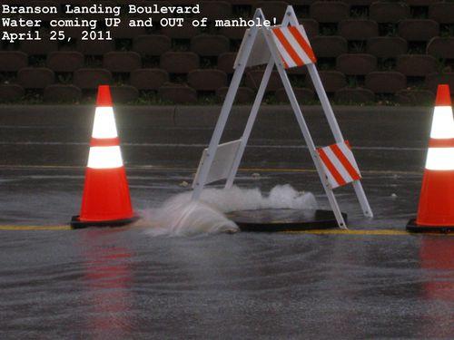 Flood pictures branson landing underground flooding