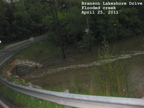 Flood pictures branson lakeshore drive flooded creek