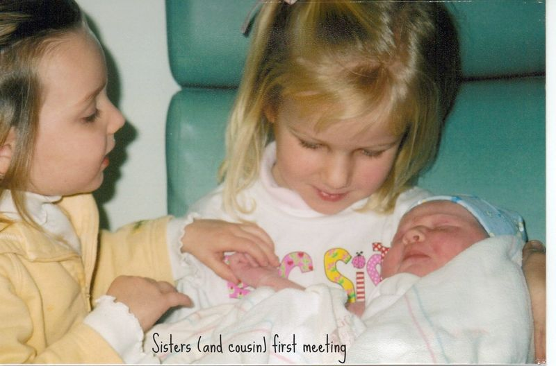 Sisters and cousin first meeting