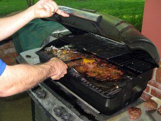 Memorial day grilling burgers