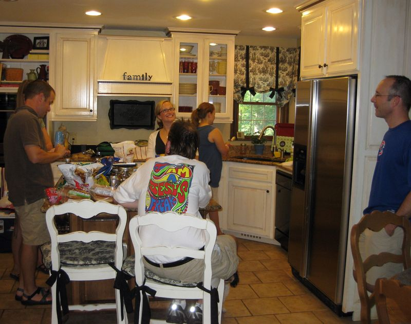 Memorial day friends in the kitchen