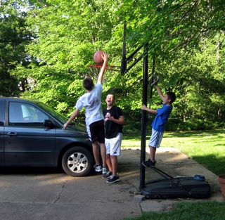 Memorial day dunking the basketball