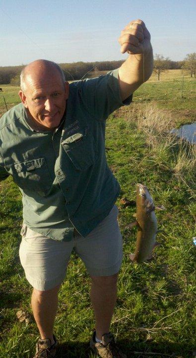 Dad catching catfish
