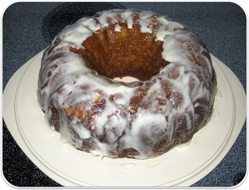 Carrot cake recipe frost while still warm