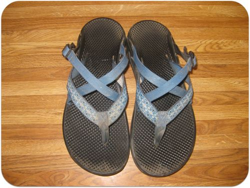 How to clean Chaco sandals before pic