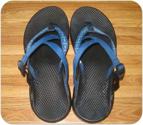 How to clean Chaco sandals after pic rear