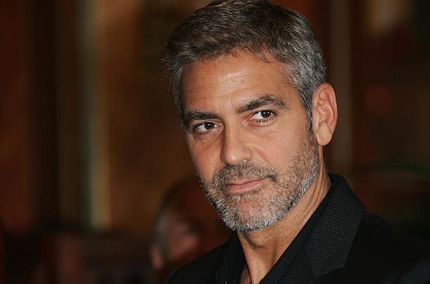 George Clooney facial hair
