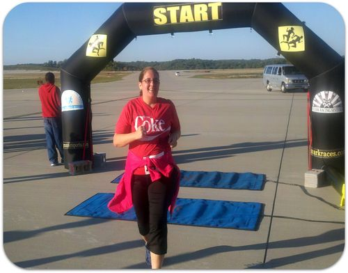 First 5k crossing the finish