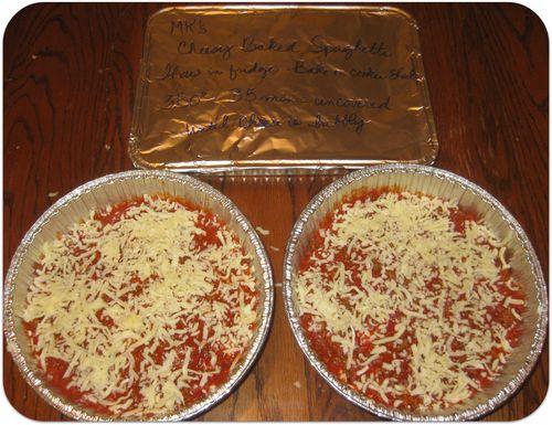Cheesy baked spaghetti