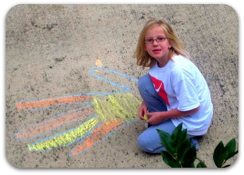 Thanksgiving sidewalk art