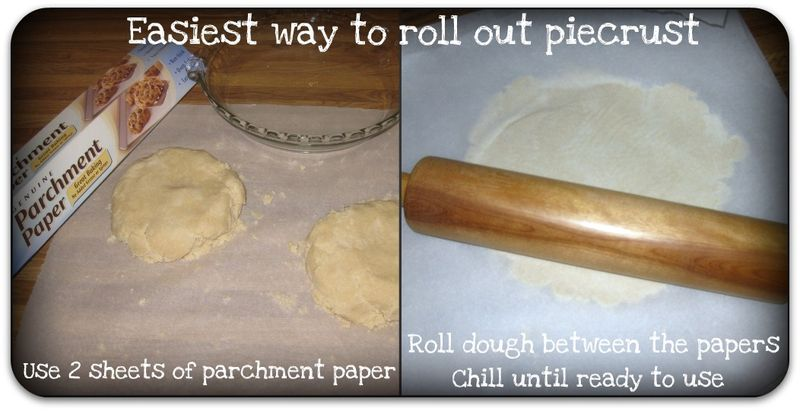 Apple pie easy way to roll out  piecrust